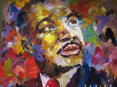 Mlk Painting On Loan To Quinlan For Black History Month