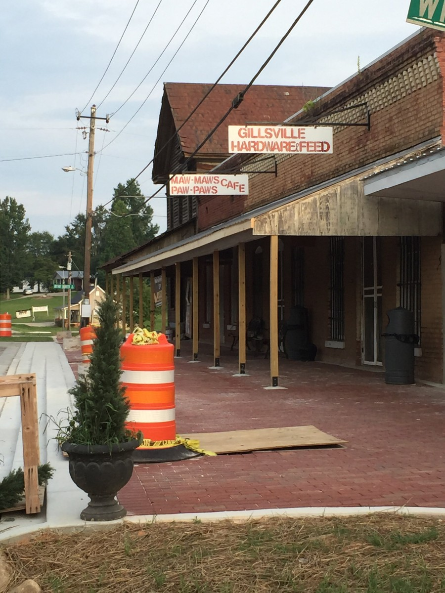 Streetscape To The North Of Hickory Click To Close: Streetscape Project In Gillsville Nears Completion