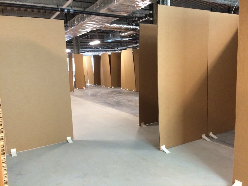 cardboard office. gainesville cardboard office allows doctors patients to create best space