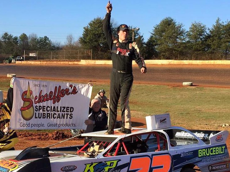 Cory Hedgecock led wire-to-wire to win Saturday's Frostbuster 50, the 2016 season opener for the Southern Nationals Bonus Series at 411 Motor Speedway.
