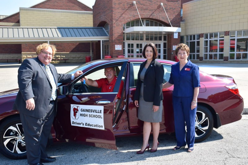 gainesville schools receive new vehicle from state driv. Black Bedroom Furniture Sets. Home Design Ideas