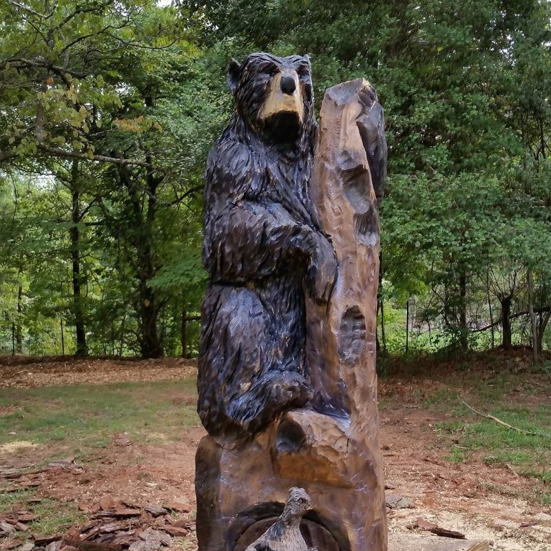 Bear y cool chainsaw carvings turn stumps into still l