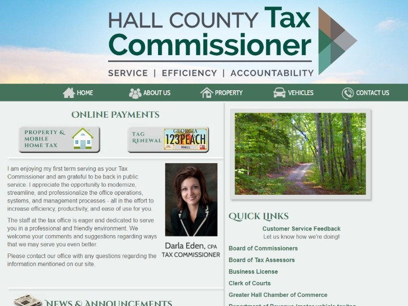 Hall County Tax Commissioner Property Taxes