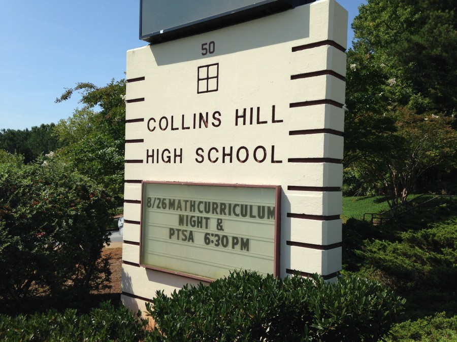 Gwinnett high school vandalized with political graffiti for Collins hill