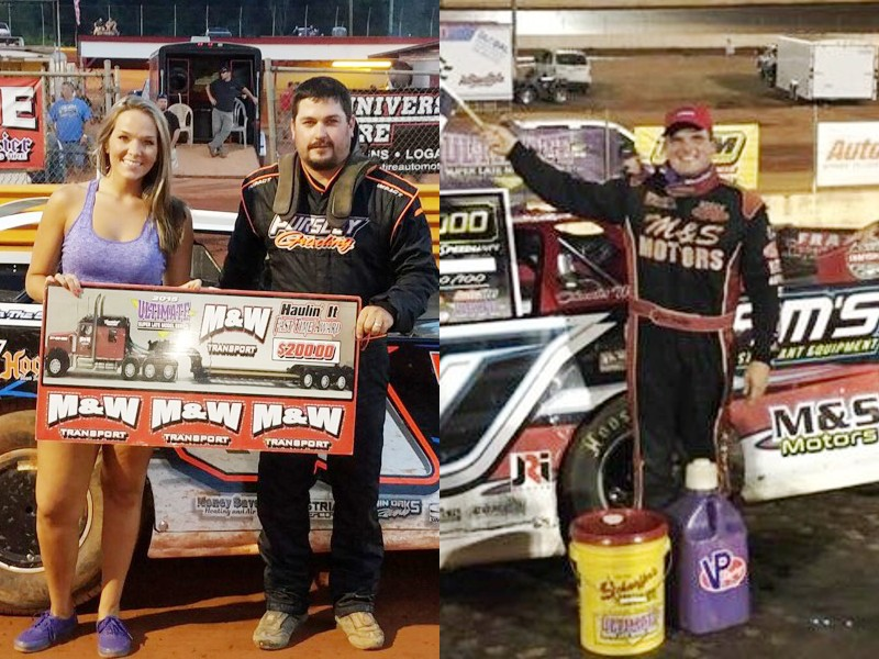 ... Ownbey (right) scored wins in ULTIMATE Super Late Model Series action in Georgia over the weekend. Pursley was victorious at Lavonia Speedway on Friday, ...