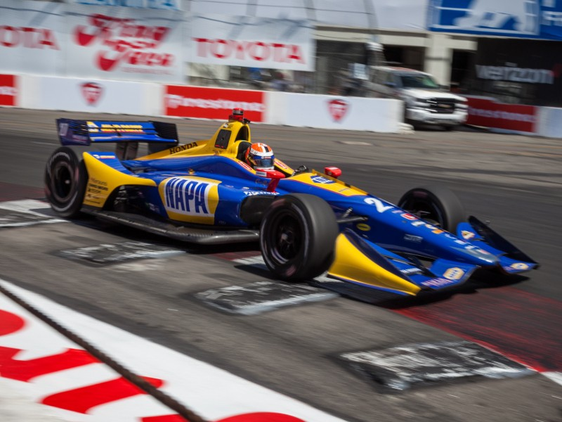 Rossi Dominates Long Beach Qualifying For Indycar Pole